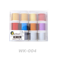 Lot of 12ea - Metallic Thread A size 100yd (WK004)