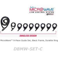 American Tackle MicroWave 9-Piece Guide Set Black Frame, Duralite Ring (DBMW-SET-C)  -Casting