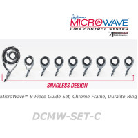 American Tackle MicroWave 9-Piece Guide Set Crome Frame, Duralite Ring (DCMW-SET-C)  -Casting