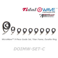 American Tackle MicroWave 9-Piece Guide Set Titan Frame Duralite Ring (DOIMW-SET-C)  -Casting