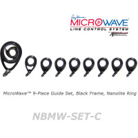 American Tackle MicroWave 9-Piece Guide Set Black Frame Nanolite Ring (NBMW-SET-C)  -Casting