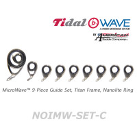 American Tackle MicroWave 9-Piece Guide Set Titan Frame Nanolite Ring (NOIMW-SET-C)  -Casting