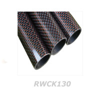 3K Woven RED Carbon Tube OD 12.8mm/ ID 11mm (RWCK130)