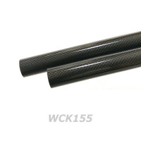 1K Woven (Glossy) Carbon Tube OD 15.2mm/ ID 13.5mm (WCK155)