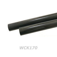 1K Woven (Glossy) Carbon Tube OD 16.7mm/ ID 15mm (WCK170)
